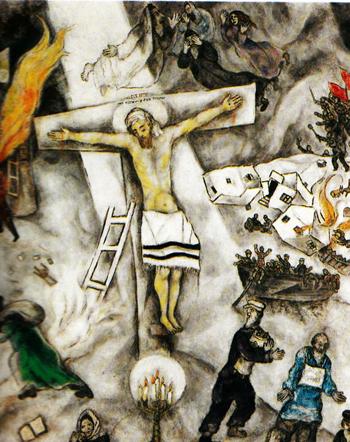"""""""LE FUCILAZIONI DEL 3 MAGGIO 1808"""" - ThingLink Chagall Witte Kruisiging"""